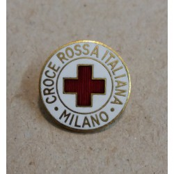 DISTINTIVO, SPILLA - CRI CROCE ROSSA ITALIANA - SEZ. MILANO - JOHNSON MF41843