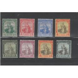 TRINIDAD E TOBAGO 1913-18  ALLEGORIA BRITANNIA  8 VALORI MLH MF54705