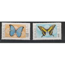 1971 BRASILE  FAUNA FARFALLE 2 VAL MNH MF54716