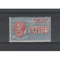 1922 REGNO ITALIA ESPRESSO LIRE 1,20 NON EMESSO MNH CERT CILIO MF27525