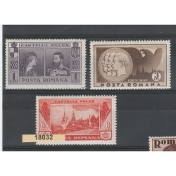 1933  ROMANIA  RESIDENZA REALE 3 VAL  MNH MF18032
