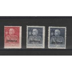 1925-26 CIRENAICA SERIE GIUBILEO  DEL RE 3 VALORI NUOVI MLH MF24247
