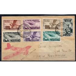 1934 EM. GENERALI AEROGRAMMA RACCOMANDATO DECENNALE MARCIA ROMA RAYBAUDI MF27864