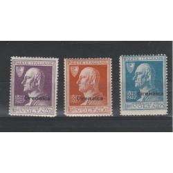 1927 CIRENAICA SERIE VOLTA 3 VALORI NUOVI MNH MF55242