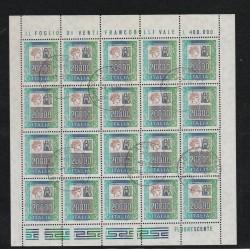 1987 REPUBBLICA ITALIANA LIRE 20.000 TURRITA ALTO VALORE MINIFOGLO DI 20 USATO  MF55280
