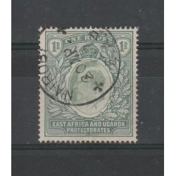 EAST AFRICA UGANDA 1903-04 EDOARD VII 1 R GREEN SG 9 USATI  MF