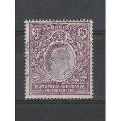 EAST AFRICA UGANDA 1903-04 EDOARD VII 2 R PURPLE SG 10 USATO  MF55282