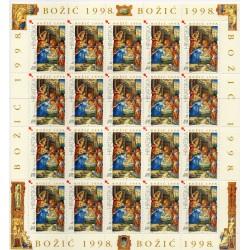 1998 EMISSIONE CONGIUNTA CROAZIA VATICANO NATALE 1 MINIFOGLIO MNH MF227873
