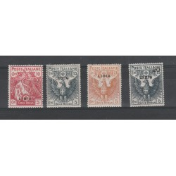 1915 - 1916 LIBIA SERIE CROCE ROSSA  4 VAL  MLH  MF55295