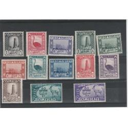 1950 SOMALIA AFIS SERIE SOGGETTI AFRICANI 13 VALORI NUOVI MNH MF54919