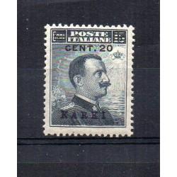 1916 ISOLE EGEO KARKI EFFIGIE SOPRASTAMPATO 20 C SU 15 C MNH MF22850