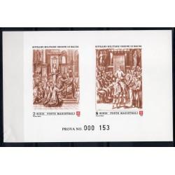 1990 S.M.O.M. PROVA SOLENNITA' DELL'ORDINE UNIFICATO N 358/359 MNH MF27898