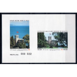 1994 S.M.O.M. PROVA RESIDENZE DELL'ORDINE UNIFICATO N 457/458 MNH MF27903