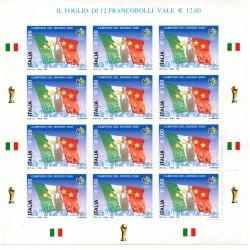 2006 ITALIA CAMPIONE DEL MONDO DI CALCIO 2006 MINIFOGLIO MNH MF27962