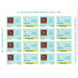 2006 ITALIA USFI UNIONE STAMPA FILATELICA ITALIANA MINIFOGLIO MNH MF27961