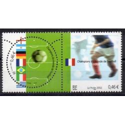 2002 EMISSIONE CONGIUNTA FRANCIA ITALIA MONDIALI DI CALCIO 2 V. MNH  MF27922