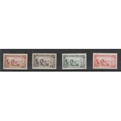 TUNISIA TUNISIE 1944  SOCCORSO NAZIONALE 4 VAL MNH YVERT 245/48 MF 54883