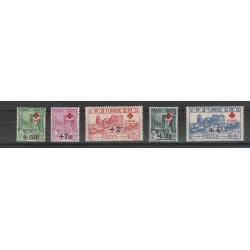 TUNISIA TUNISIE 1946  CROCE ROSSA 5 VAL MNH YVERT 305/309 MF 54882