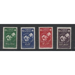 TUNISIA TUNISIE 1947  PRO INFANZIA 4 VAL MNH YVERT 320/23 MF 54965