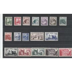 TUNISIA TUNISIE 1954 VEDUTE 17 VAL MLH YVERT 366-82 MF54968