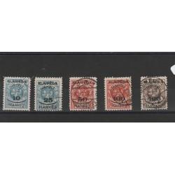 1923 LITUANIA LIETUVA OCCUPAZIONE LITUANA DI  MEMEL  5 VAL USATI MF50987