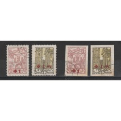 1920 LITUANIA LIETUVA  OCCUPAZIONE POLACCA  CROCE ROSSA 4  VAL USATI MF54970