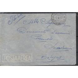 1937 ETIOPIA AEROGRAMMA DIREDAUA / BOLOGNA AFFRANCATURA AL VERSO CAFFAZ MF28182