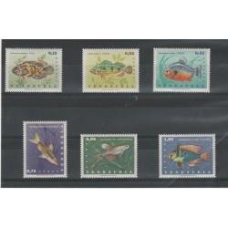 1966 VENEZUELA FAUNA PESCI  6 VAL MNH MF55255