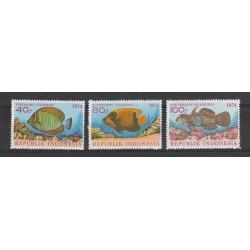 1974 INDONESIA FAUNA PESCI  3 VAL  MNH  MF55342