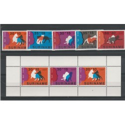 SURINAME 1977 FAUNA  - BENEFICENZA  5 VAL  + BF MNH MF55339