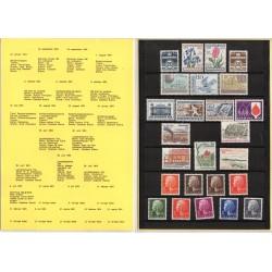 DANIMARCA LIBRO UFFICIALE ANNATA 1974 COMPLETA 25 VALORI - NUOVI MF28201