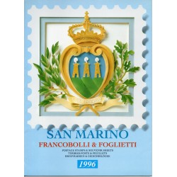 1996 SAN MARINO LIBRO UFFICIALE COMPLETO RACCOLTA EMISSIONI FILATELICHE MF28204
