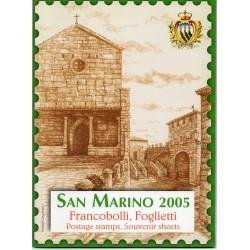 2005 SAN MARINO LIBRO UFFICIALE COMPLETO RACCOLTA EMISSIONI FILATELICHE MF28199
