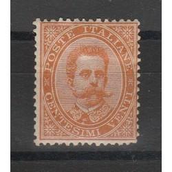 1901 REGNO FLOREALE 20 C ARANCIO 1 VAL MLH MF55374
