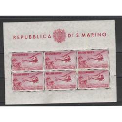 1961 SAN MARINO PA ELICOTTERO LIRE 1000 FOGLIETTO NUOVO INTEGRO MF55386