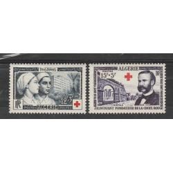 ALGERIE ALGERIA 1954 PRO CROCE ROSSA   2  VAL  MLH  MF55398