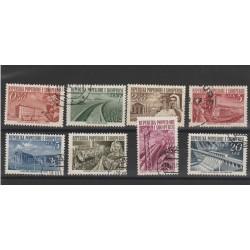 1953 ALBANIA RICOSTRUZIONE 8 VAL USATI  MF55458
