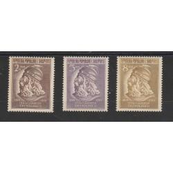 1951 ALBANIA SCANDERBERG  3 VAL  MNH MF55459