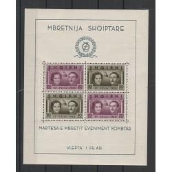 1938 ALBANIA NOZZE RE ZOGU   1 BF MNH MF55440