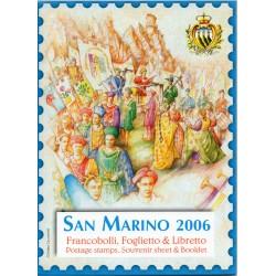 2006 SAN MARINO LIBRO UFFICIALE COMPLETO RACCOLTA EMISSIONI FILATELICHE MF28236
