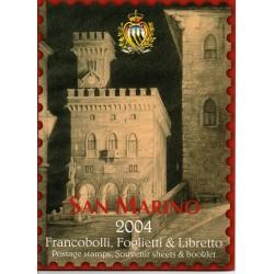 2004 SAN MARINO LIBRO UFFICIALE COMPLETO RACCOLTA EMISSIONI FILATELICHE MF28297