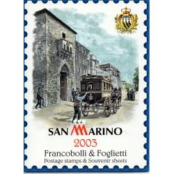 2003 SAN MARINO LIBRO UFFICIALE COMPLETO RACCOLTA EMISSIONI FILATELICHE MF28231