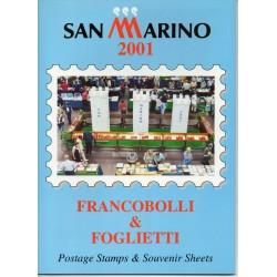 2001 SAN MARINO LIBRO UFFICIALE COMPLETO RACCOLTA EMISSIONI FILATELICHE MF28291