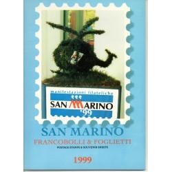1999 SAN MARINO LIBRO UFFICIALE COMPLETO RACCOLTA EMISSIONI FILATELICHE MF28233
