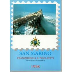 1998 SAN MARINO LIBRO UFFICIALE COMPLETO RACCOLTA EMISSIONI FILATELICHE MF28232