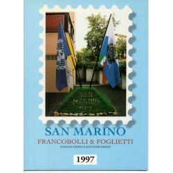 1997 SAN MARINO LIBRO UFFICIALE COMPLETO RACCOLTA EMISSIONI FILATELICHE MF28228