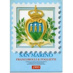 1995 SAN MARINO LIBRO UFFICIALE COMPLETO RACCOLTA EMISSIONI FILATELICHE MF28246