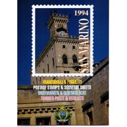 1994 SAN MARINO LIBRO UFFICIALE COMPLETO RACCOLTA EMISSIONI FILATELICHE MF28377