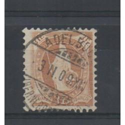 1907 SVIZZERA HELVETIA IN PIEDI CON FILI SETA 3 FRANCHI BISTRO USATO MF28227