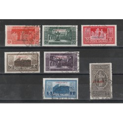 1929 CIRENAICA SERIE MONTECASSINO 7 VAL USATO  MF55480
